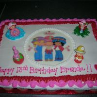 Strawberry Shortcake Cupcake Cake This was my first cupcake cake. I had a really good time making it. Thanks for looking!