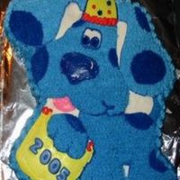 Blues Clues: Happy 2005! I made this Blues Clues cake for a New Year's Eve party for my 3 year old son and some of his friends.