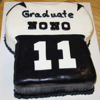 Dallas Cowboys Jersey Dallas Cowboys jersey for a graduate. All fondant.