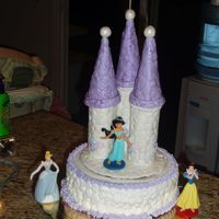 Princess Castle Birthday Cake Here is a princess cake that I did for my niece's birthday. I got a lot of great ideas from other postings! Thanks for sharing.