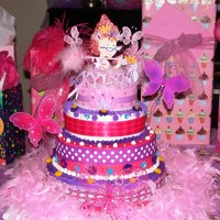 Fancy Nancy Cake! Love making these cheerful, bright children's cakes!