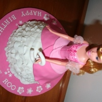 3Rd Birthday Barbie Cake This is my first ever Barbie cake, so wrapped with it. Choc cake with vanilla cream cheese filling. Had to make an additional cake as...