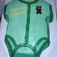Onesie_Cake.jpg this was for a baby shower, colors green, theme teddy bears Many thanks to sue_dye for her help with this