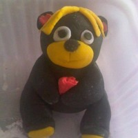 Black Teddy   My 2nd ever teddy bear topper, was made just for the sheer fun of it and general practise