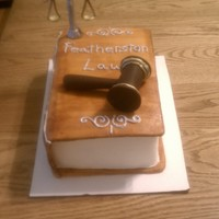 Law Book The gavel and scales are modeling chocolate