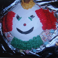 Clown Cake   Ice cream clown cake.