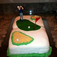 Fore! Golf Cake made super fast for brother in laws birthday.
