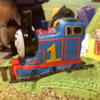 Thomas The Train Thomas cake made with mm fondant.