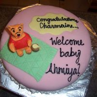 Pooh Baby Shower Cake This is a cake I made for a close friend of mine for her baby shower at work. She is decorating her room in Pooh, and loves anything that...