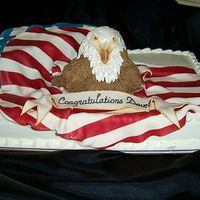 Welcome Home Promotion Cake This cake was made for a soldier returning from Iraq who had just received a promotion. The cake design is from one by Janet Brown. Thank...