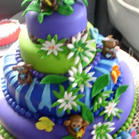 Safari Baby Shower safari baby shower- cake is covered with mm fondant, decorations are all made of mm fondant