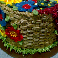Butter Cream Flower Basket