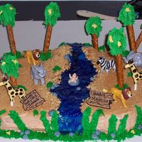Jungle Baby My first cake for someone. She wanted a jungle themed baby shower cake.