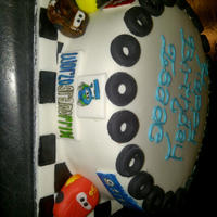 Cars 2 Birthday Cake Cars 2 cake made in one day on such chort notide... looks pretty good to me :)