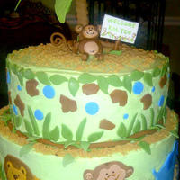 Tiddliwinks Safari Baby Shower Tiddliwinks Safari Shower cake made to match nursery decor.