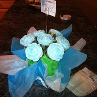 It's A Boy! Cupcake bouquet made for the arrival of my nephew.
