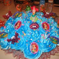 Lil Mermaid Cupcake Bouquet