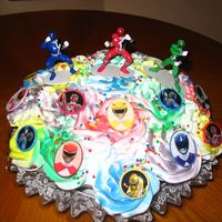Power Ranger Cupcake Bouquet