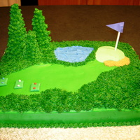 The Fairway Golf cake made for a friend's husband who was having a man's golf weekend for his birthday. Thanks for all the inspiration found...