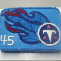 Titans Football Logo Birthday Cake