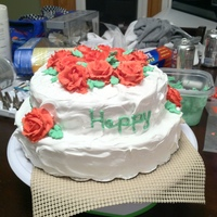 Red Rose Cake My first cake after taking all three Wilton's classes. I used a seven minute frosting because the person I was making it for does not...