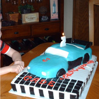 Race Car My disastrous first try at a car cake. Lessons learned! MMF.