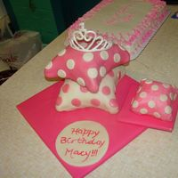 Princess Cake These are my first pillow cakes, my first tiered cake, and only my second fondant cake. I was a bit nervous, since it was for a friend&#039...
