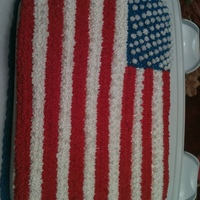 My First Flag Cake