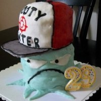 "Squidbillies Cake 5 layer fondant covered ""Sqidbillies"" cake"
