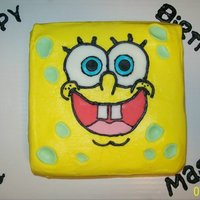 Spongebob Squarepants Buttercream with fondant accents
