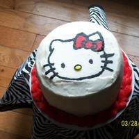 Hello Kitty Cake 2 layer buttercream cake