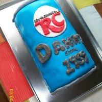 Rc Cola Cake RC Cola fondant covered 3D cake
