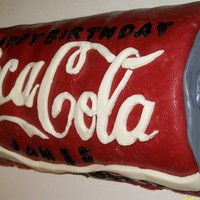 Coca Cola 3D Cake Coca Cola fondant covered cake
