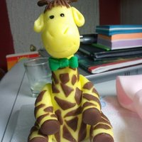 Gerry Giraffe. First Fondant Figure made from an Online Tutorial. His Name is Gerry and he lives on the Microwave :)