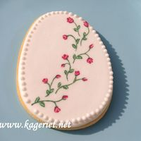 Cookie With Painted Roses.