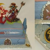 World Of Warcraft   This is a weddingcake - ordered by the bride! Now thats a cool bride :-)