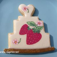 Cath Kidston Cookie This is my third painted cookie. I´m using dust-colours diluted with clear alcohol.