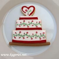 Painted Wedding Cake Cookie