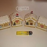 Mini Cookie Houses   Made of Sugar basic Cookies dough.