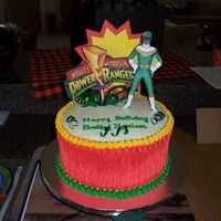 Power Ranger Power Ranger themed birthday cake. Got inspiration and help from gegon on this one.
