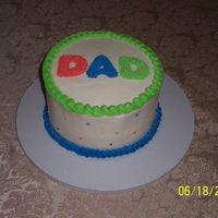 Father's Day Buttercream Simple and quick Father's Day cake