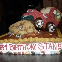 Jeep Four Wheeling Cake This is a cake I made for my father in-law. It looks like his old jeep. He loved it and everything was edible.
