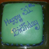 Fondant Cake Happy Birthday - Simple