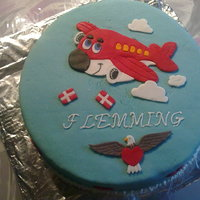 Pilot Cake my first fondant cake - for my husbonds birthday