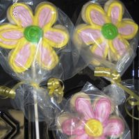 Flower Cookies On Sticks No fail sugar cookie recipe with Alice's cookie icing. This is the BEST cookie icing I've found... perfect taste. Everyone,...