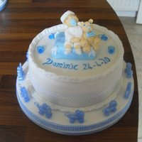 The Dominic Christening Cake. This cake is So So So special to me as I made it for my first grandchild's Christening.It was the top tier which was placed on top of...