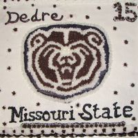 Missouri State Bears BC cake. Made for a 15th birthday party for a girl from our church. Had so much trouble trying to make the color maroon!!! I think she...