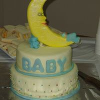 Baby Boy Shower Cake This is my second fondant cake, or decorated cake ever. My best friend baked the cakes and frosted them with BC. I helped her to cover them...