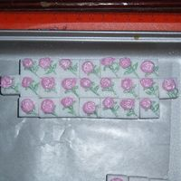 Pink Rose Decorated Sugar Cubes This was my first attempt at decorated sugar cubes. LOL, the first 50 I made went in the trash. I was pretty happy with these though. Talk...