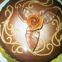Romantic Cake Chocolate cake Made with ganage and molding chocolate roses ;)